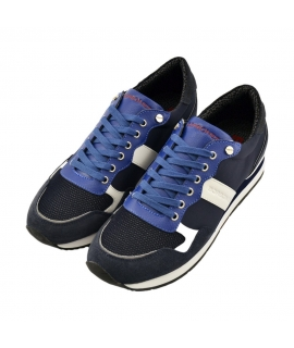 Shoes Borbonese man Sneakers in leather and fabric