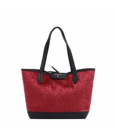 Patrizia Pepe shopping bag in velvet Animal print