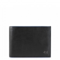Piquadro men's wallet with coin purse Blue line Square