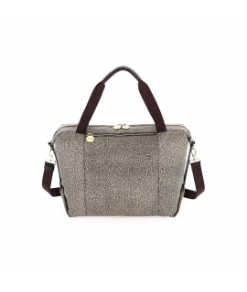 Bag Borbonese medium satchel in Jet OP