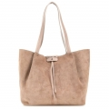 Bag Patrizia Pepe Shopping City media in real suede