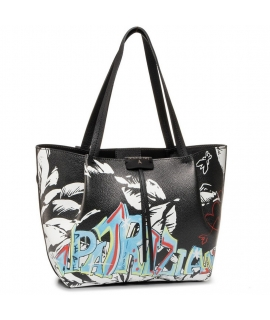 Bag Patrizia Pepe Shopping City media, in printed leather