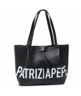 Bag Patrizia Pepe Shopping City media logo leather