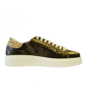 check out 9eb1e 28b7a Shoes Patrizia Pepe Sneakers glittery gold | Leather goods Through
