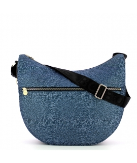 Borsa Luna Bag Borbonese Medium con Taschino in Jet O.P.