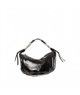 Borsa Borbonese Hobo Medium In Vera Pelle Black
