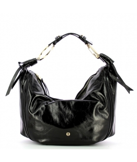 Borsa Borbonese Hobo Large In Vera Pelle Black