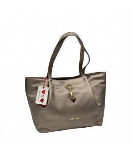 Borsa Shopping Love to Love by Gai Mattiolo in Ecopelle Martellata