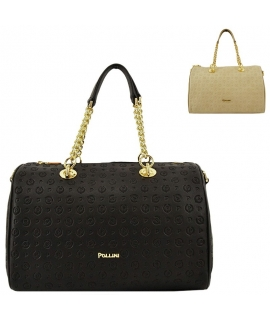 Duffle bag Pollini shoulder strap and handles with ch logo