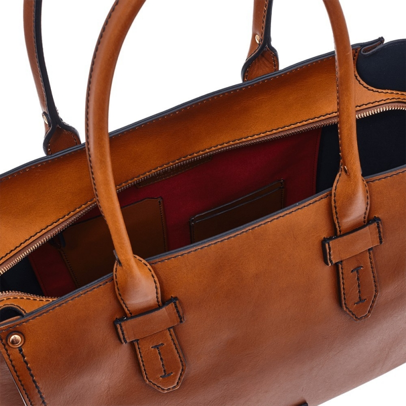 0542be40c7 Borsa The Bridge Sartre shopping tote in leather | Leather goods Through