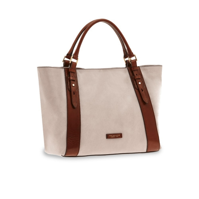 16665ae3c8b Bag shopping tote The Bridge Baudelaire | Leather goods Through
